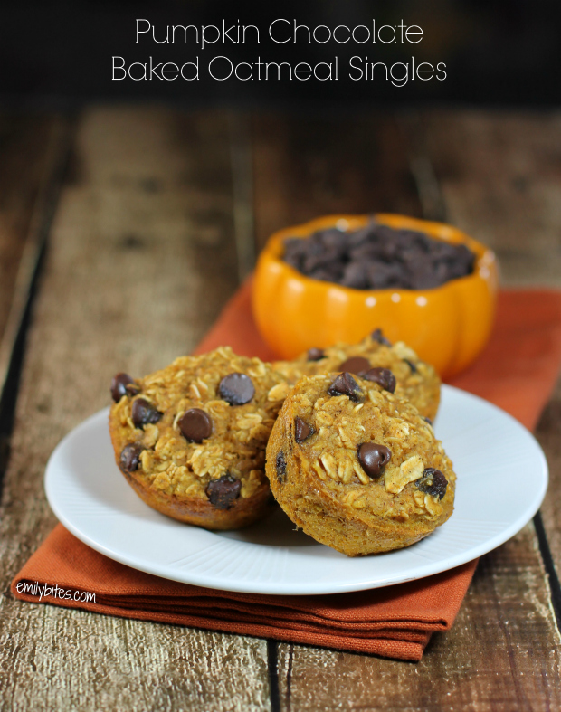 Pumpkin Chocolate Baked Oatmeal Singles