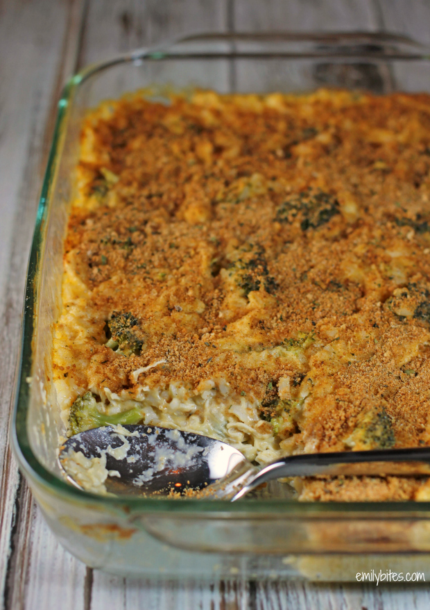 Cheesy Chicken Broccoli & Rice Casserole