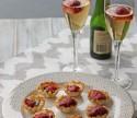 Roasted Strawberry, Brie and Chocolate Mini Tarts