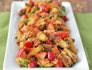 Sauteed Brussels Sprouts and Apples