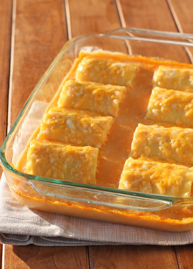 Buffalo Chicken Lasagna Roll-Ups