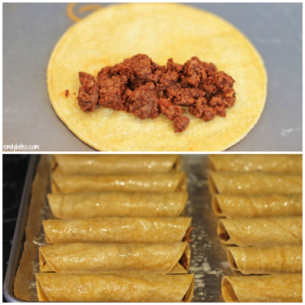 Ground Beef, Black Bean, And Cheddar Cheese Taquitos Recipes ...