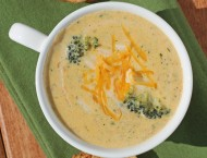 Light Broccoli Cheddar Soup