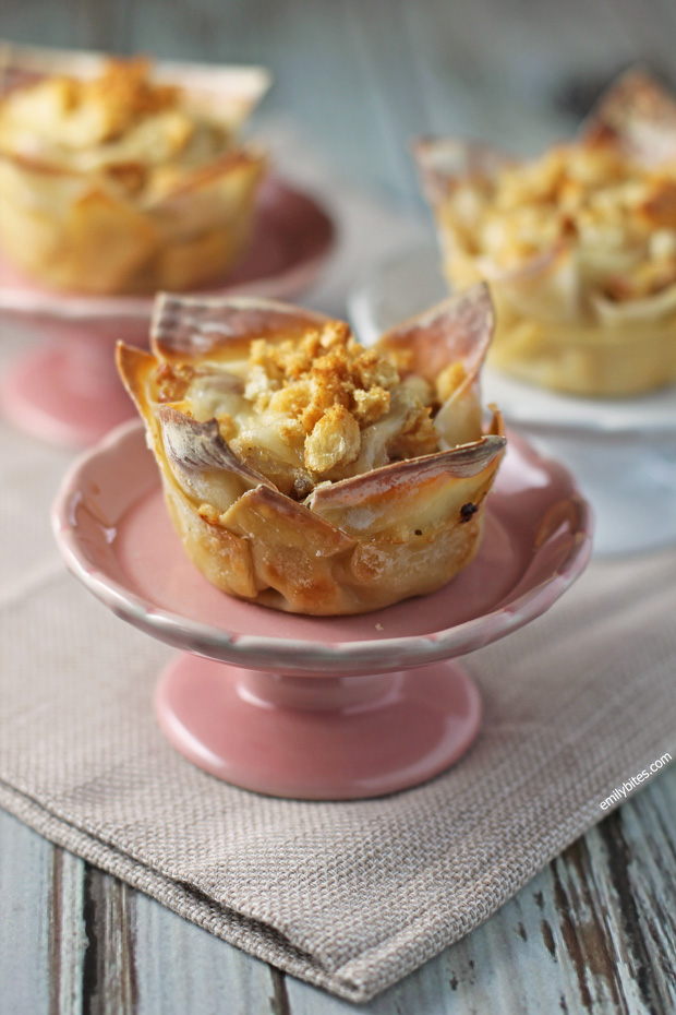 Chicken Cordon Bleu Wonton Cupcakes