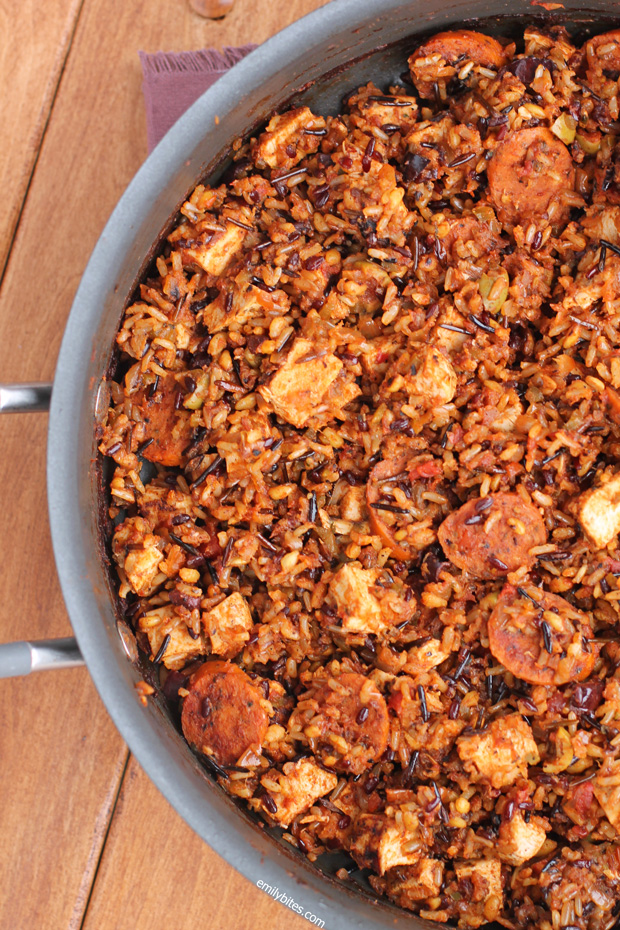 Chicken and Chorizo Salsa Skillet