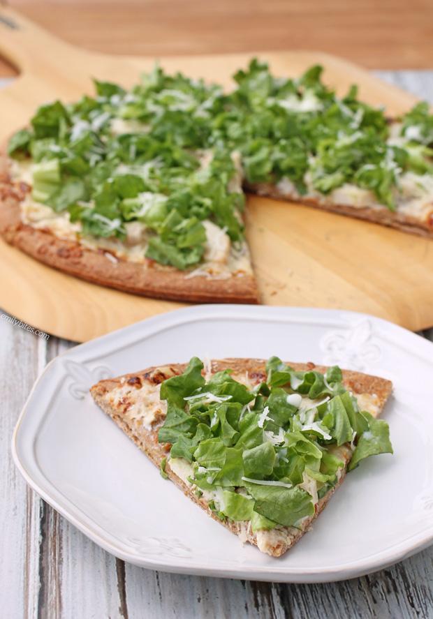 Chicken Caesar Salad Pizza | Recipe | Chicken caesar salad