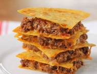 Bacon BBQ Cheeseburger Quesadillas