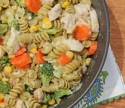 Cheesy Chicken Veggie Pasta Skillet
