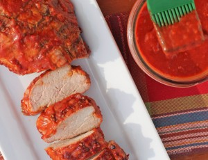 Raspberry Chipotle BBQ Sauce with Pork Tenderloin