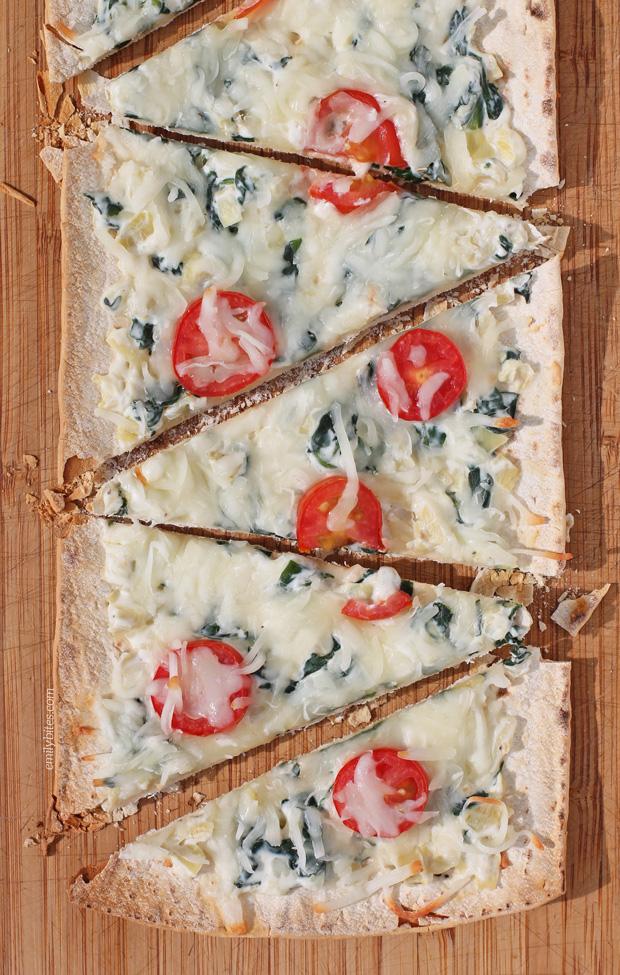 Spinach Artichoke Flatbreads