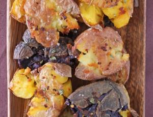 Roasted Smashed Garlic Potatoes