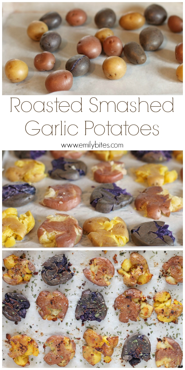 Roasted Smashed Garlic Potatoes