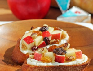 Cheesy Apple Walnut Bruschetta