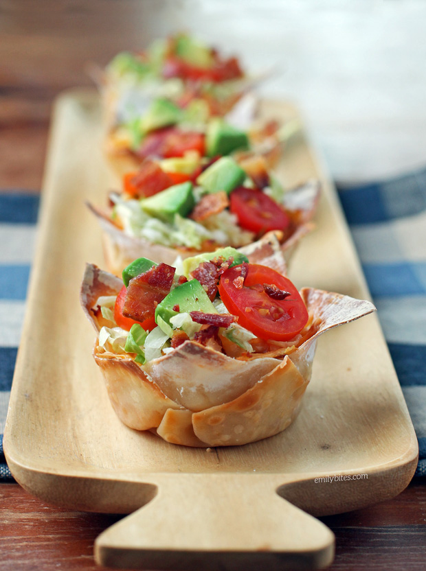 Turkey Club Wonton Cupcakes