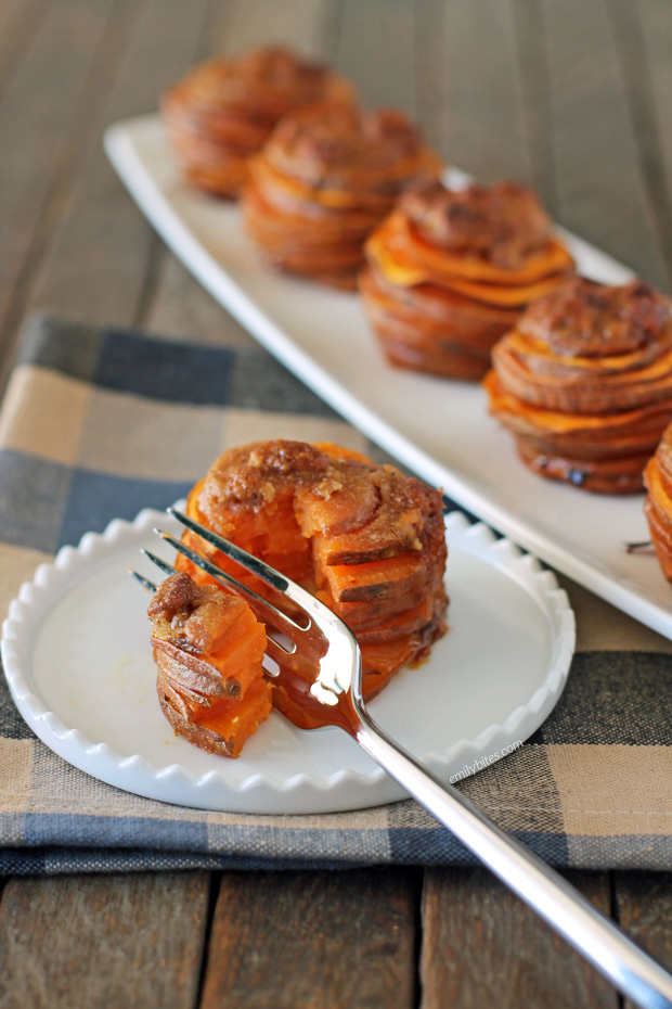 Sweet Potato Casserole Stacks