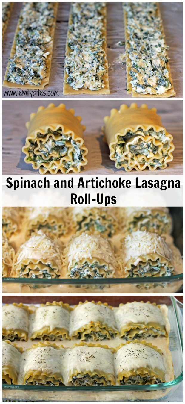 Spinach and Artichoke Lasagna Roll-Ups
