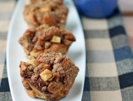 Apple Streusel French Toast Muffins
