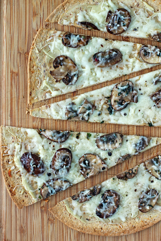 Three Cheese Mushroom Flatbreads