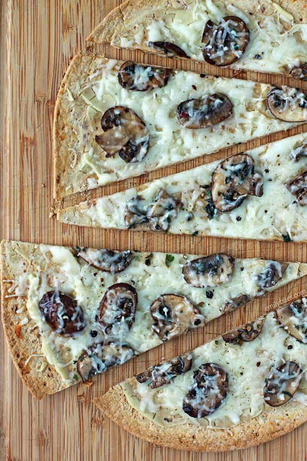 Three Cheese Mushroom Flatbreads