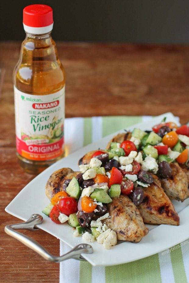 Mediterranean Topped Grilled Chicken