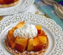 Peaches and Cream Dessert Flats