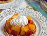 Peaches and Cream Dessert Flats