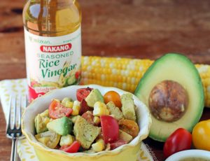 Avocado Bacon Corn Panzanella Salad