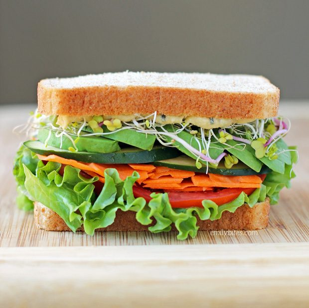 Image result for Weight Watchers Tomato, Hummus, and Spinach Sandwich