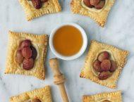 Roasted Grape Cheese Tarts