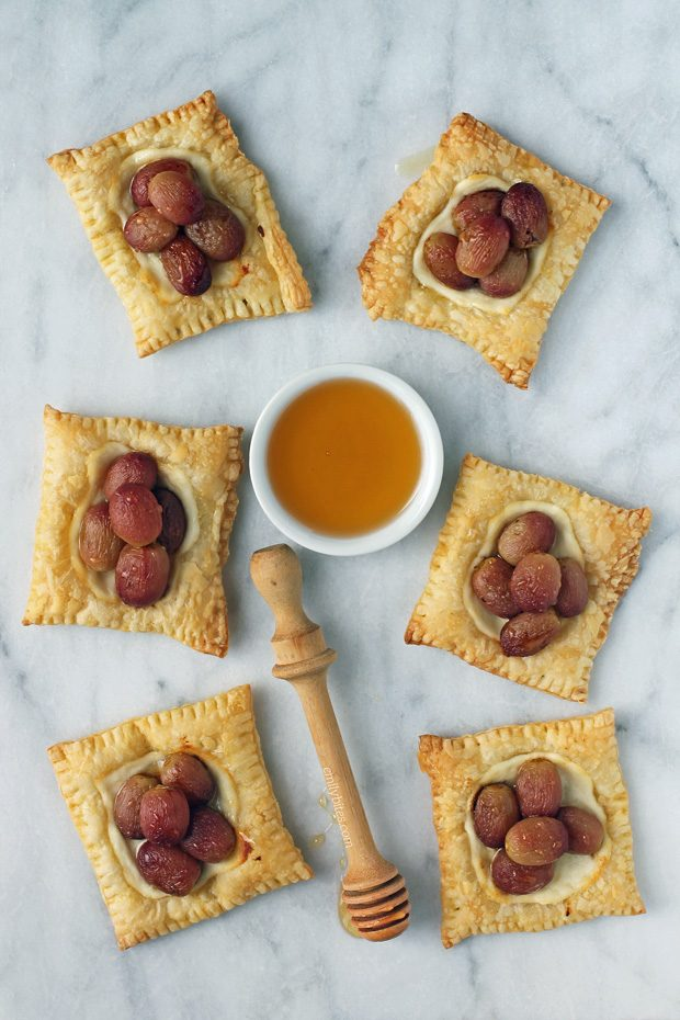 Roasted Grape Cheese Tarts