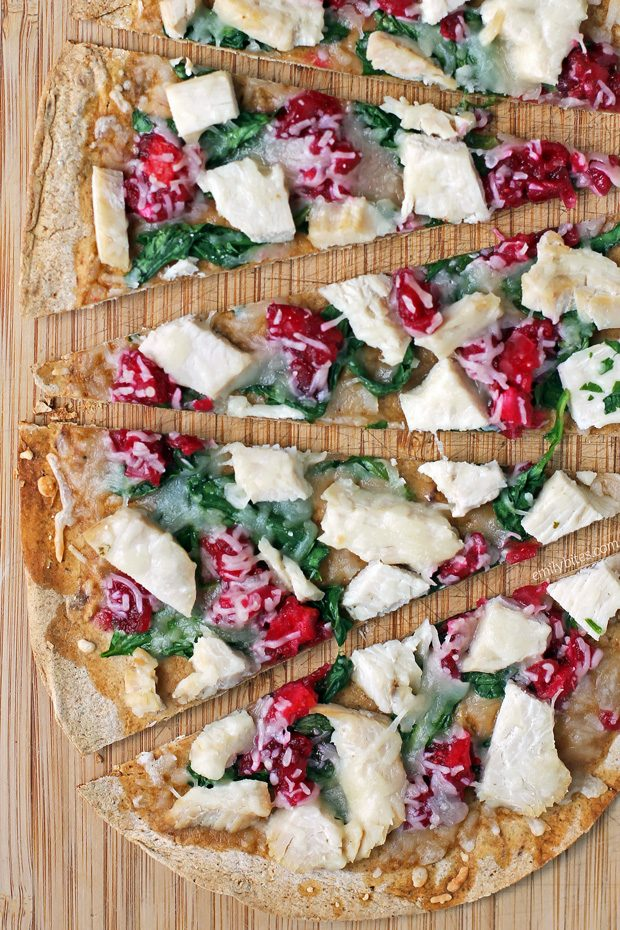 Turkey Cranberry Flatbreads
