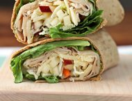 Apple Cheddar Turkey Wraps