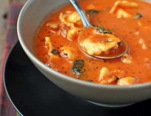 Sausage and Tortellini Tomato Soup