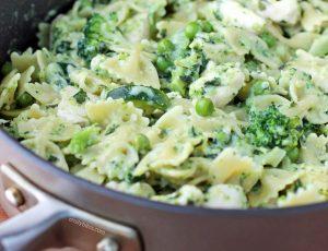 Chicken Pesto Parmesan Pasta Skillet