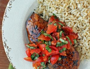 Bruschetta Topped Balsamic Chicken