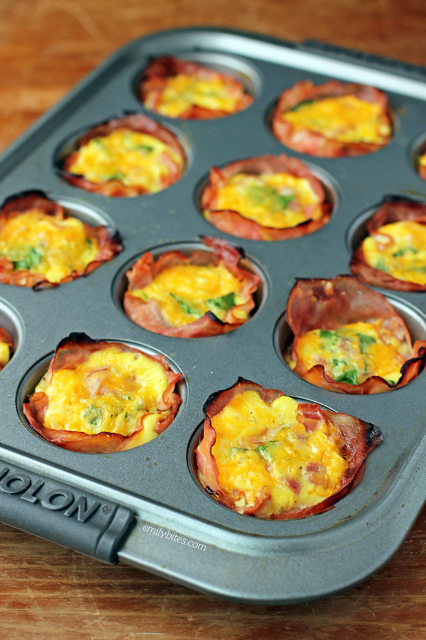 Ham and Cheese Egg Cups - Emily Bites