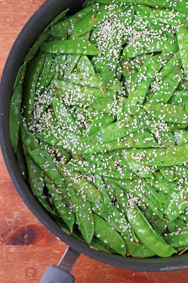 Lemon Sesame Snow Peas