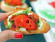 Cheesy BLT Crostini