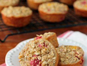 Raspberry Peach Baked Oatmeal Singles