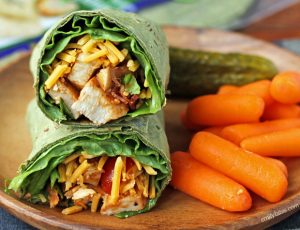 Barbecue Chicken Bacon Wraps