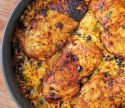 Mexican Chicken Cauliflower Rice Skillet