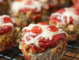 Pizza Meatloaf Muffins