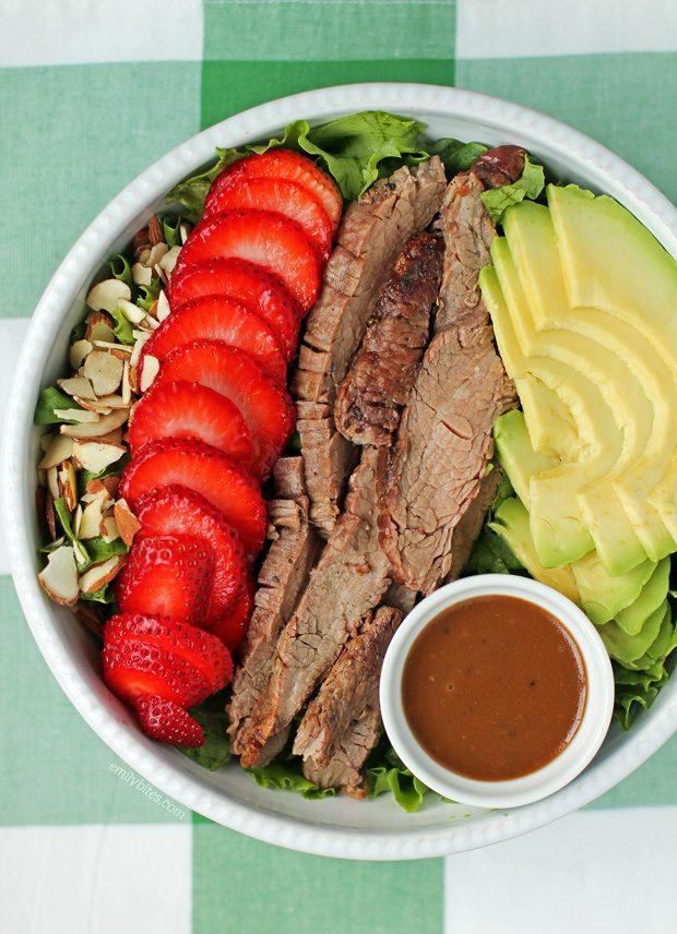 Strawberry Steak Salad