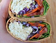 Chicken Hummus Veggie Wrap