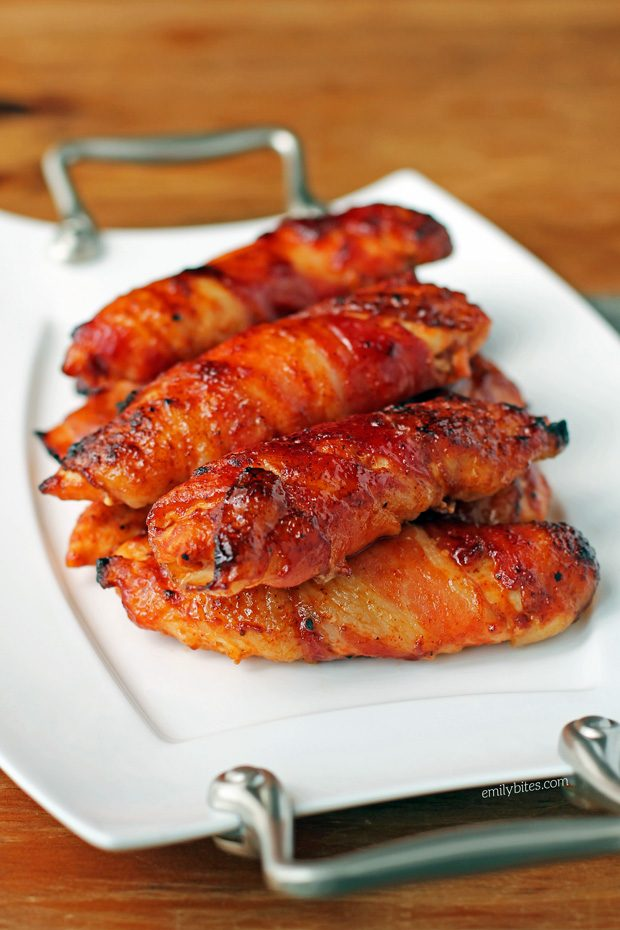 Barbecue Bacon Wrapped Chicken Tenders