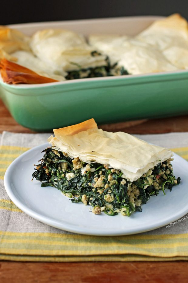 Spinach and Chicken Phyllo Bake