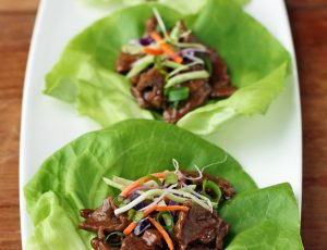 Teriyaki Steak Lettuce Wraps