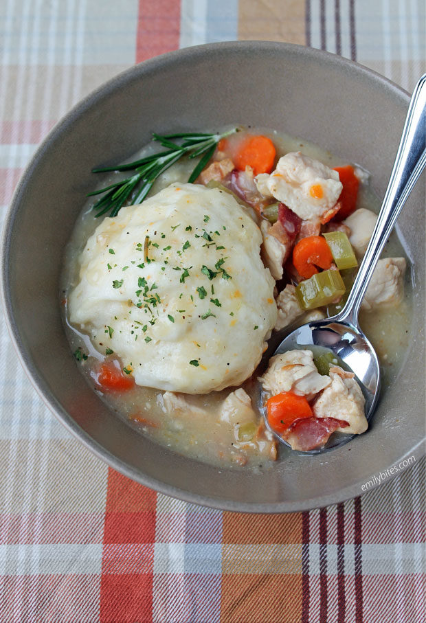 Chicken and Bacon Dumpling Stew
