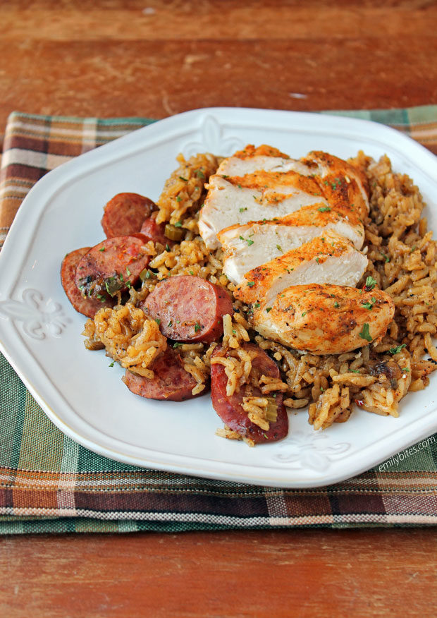 Spicy Dirty Rice with Chicken and Sausage
