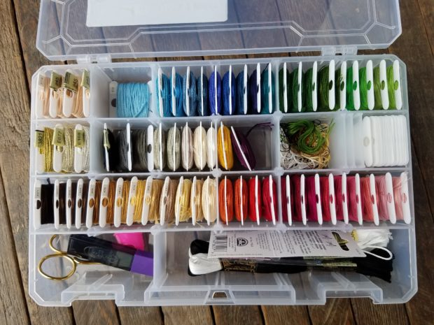 Cross-stitching supplies